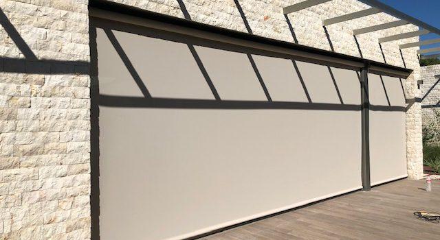 Instalación de cortina screen para exterior